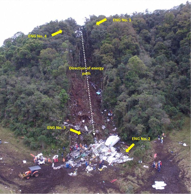 Área principal destroços LAMIA 2933 (Foto © GRIAA):