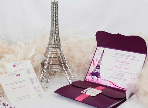 Convite Paris tradicional