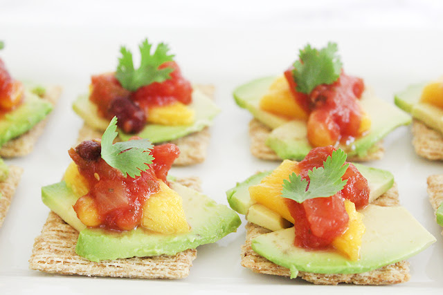 Avomangsalscuit (avocado+mango+salsa)