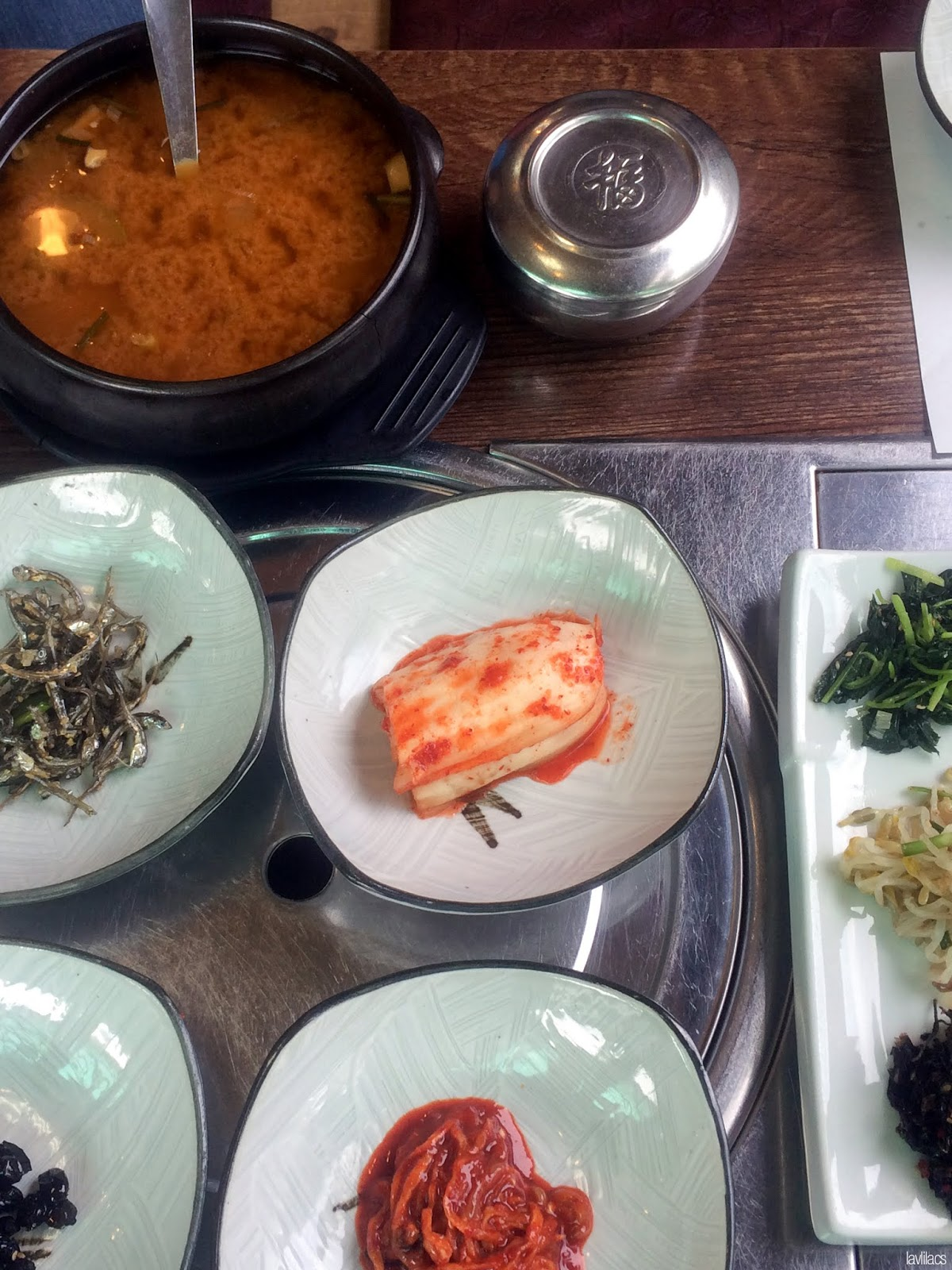 Seoul, Korea - Summer Study Abroad 2014 - Dukongso 豆콩소 lunch set side dishes
