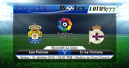 Prediksi pertandingan Las Palmas vs Deportivo La Coruna 31 Oktober 2017