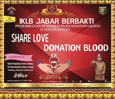 IKLB Jabar Adakan Donor Darah dan Pengobatan Gratis