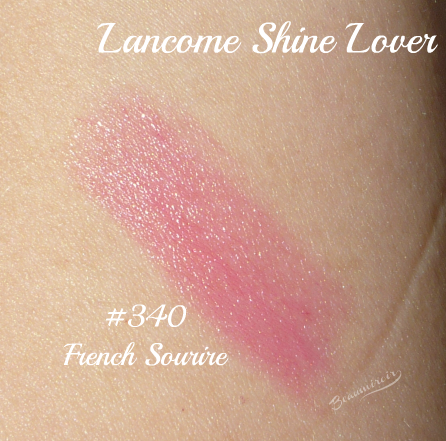 Lancome Shine Lover Vibrant Shine Lipstick French Sourire #340 swatch