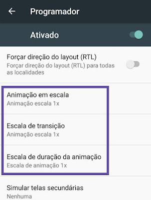 Ativando modo programador no Android
