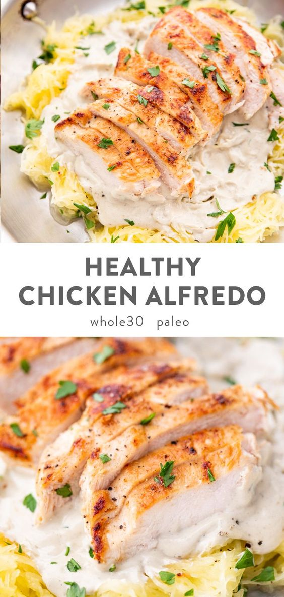Healthy Chicken Alfredo (Paleo, Whole30, Dairy Free)