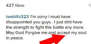 Tiwa Savage's Husband TeeBillz Planning Suicide?
