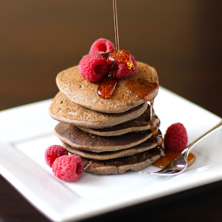 These 4-ingredient Healthy Buckwheat Pancakes are fluffy and delicious, yet sugar free, high fiber, high protein, gluten free, dairy free, and vegan!