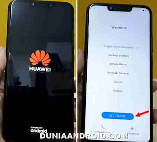 sukses factory reset huawei