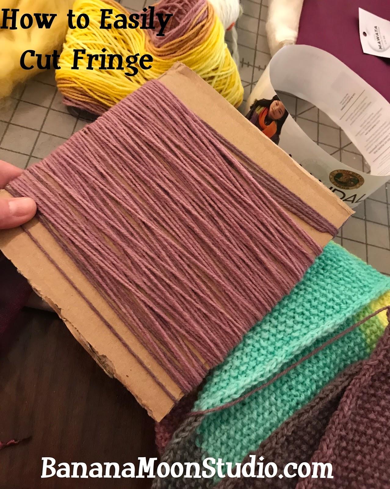 how to make fringe for a crochet or knitting project banana moon studio  rh   bananamoonstudio blogspot