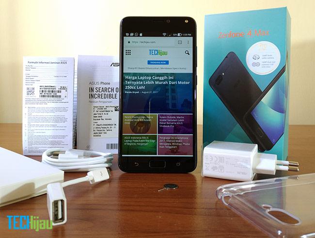 Paket penjualan ASUS Zenfone 4 Max Pro