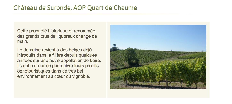 Jim\'s Loire: Château Suronde – Quarts de Chaume – changes hands