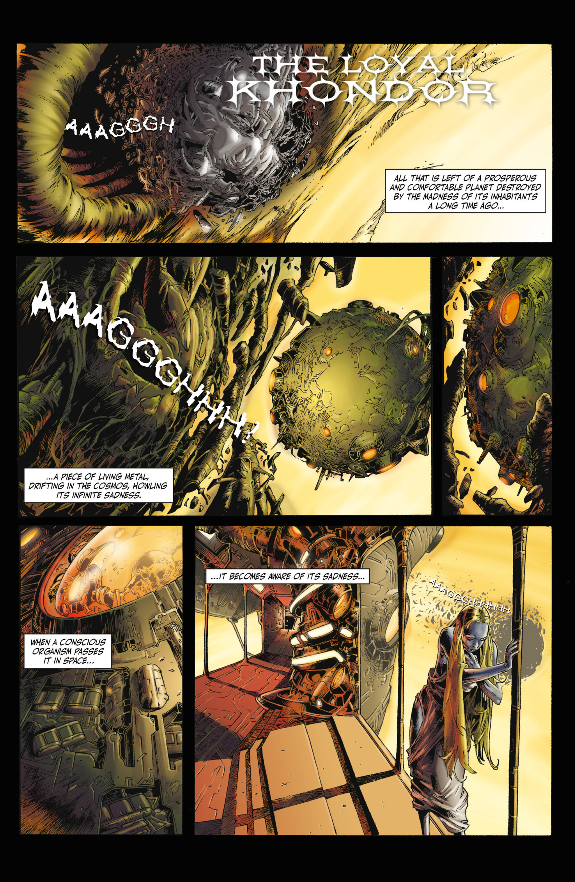 Read online Alejandro Jodorowsky's Screaming Planet comic -  Issue #2 - 34