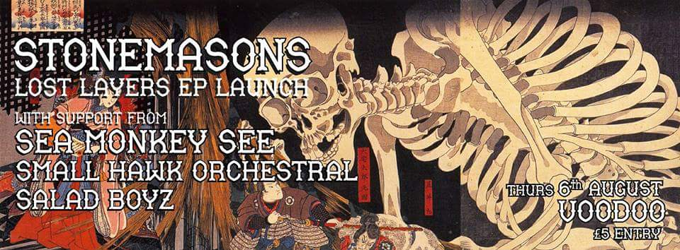 live review ~ stonemasons 'lost layers' ep launch ~ hidden