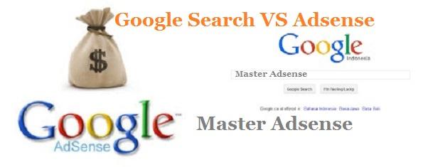 Perbedaan Google Search VS Google Adsense