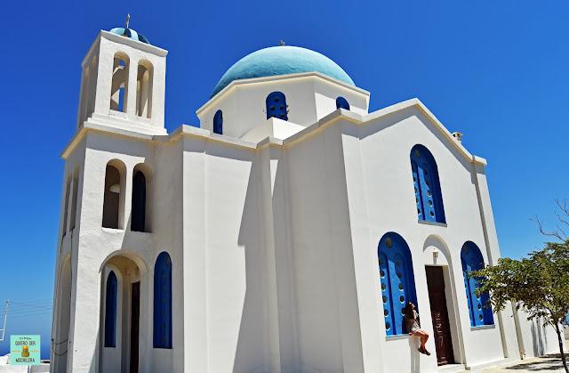 Iglesia Saint George, isla de Folegandros (Grecia)