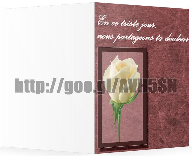 Carte De Condoleances A Imprimer Gratuitement Pour MS Word