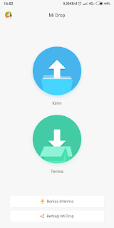 mi drop aplikasi sharing file tanpa iklan