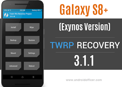 TWRP Recovery for Galaxy S8 Plus Exynos