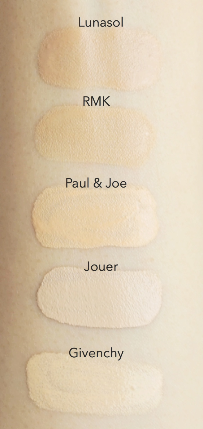 foundation swatches for fair light skin