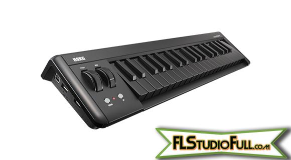 Teclado Korg microKEY 37 - Controlador MIDI - Equipamentos para Home-Studio - BLACK
