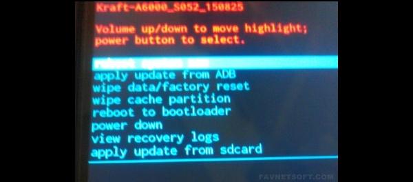 Stock Recovery Lenovo A6000