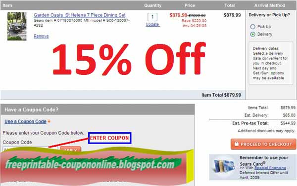 for all sears promo codes online coupons and free shipping deals think couponparkcomdiscover all printable coupons which are added daily by our team at