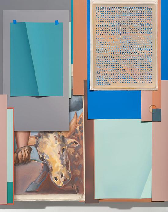John Houck, archival pigment print, mixed media, Bullseyes