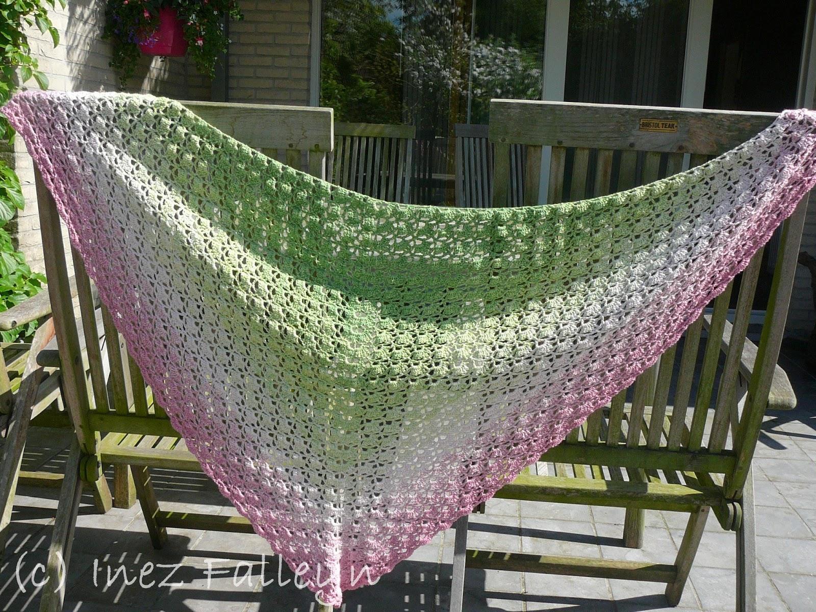 Top Crochet shawl - gehaakte omslagdoek   Ineseda OZ65