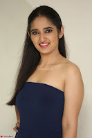 Radhika Mehrotra in sleevless Strap less Blue Gown At Prema Entha Madhuram Priyuraalu Antha Katinam Movie Interview ~  Exclusive 081.JPG