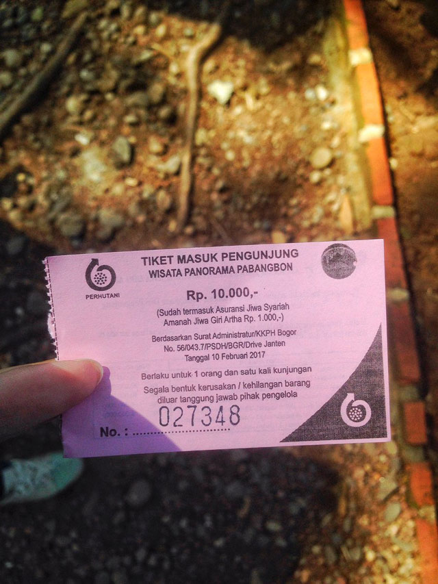 Harga Tiket Pabangbon Bogor