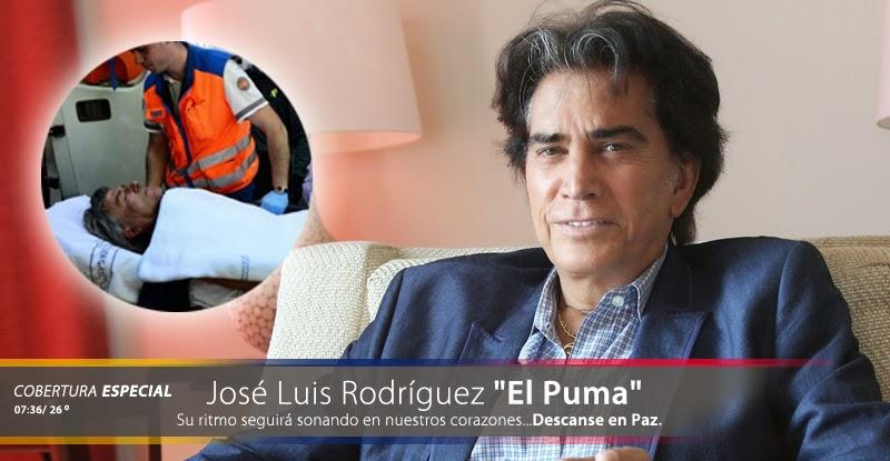 "Fallece Jose Luis Rodriguez ""El Puma"" famoso Cantante Venezolano"