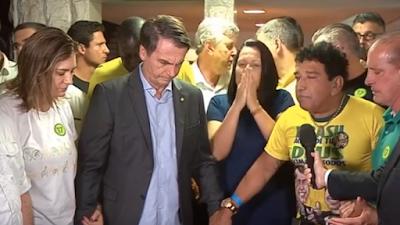 Jair Bolsonaro é eleito presidente do Brasil; primeiro discurso tem oração feita por Magno Malta