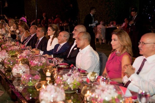 Queen Rania and Princess Ghida Talal attended a charity event of the King Hussein Cancer Foundation and Center