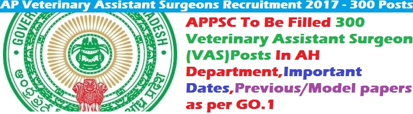 APPSC-300-Veterinary-Assistant-Surgeon-Posts-Notification-In-AH-Department-Important-Dates-Previous-Model-papers