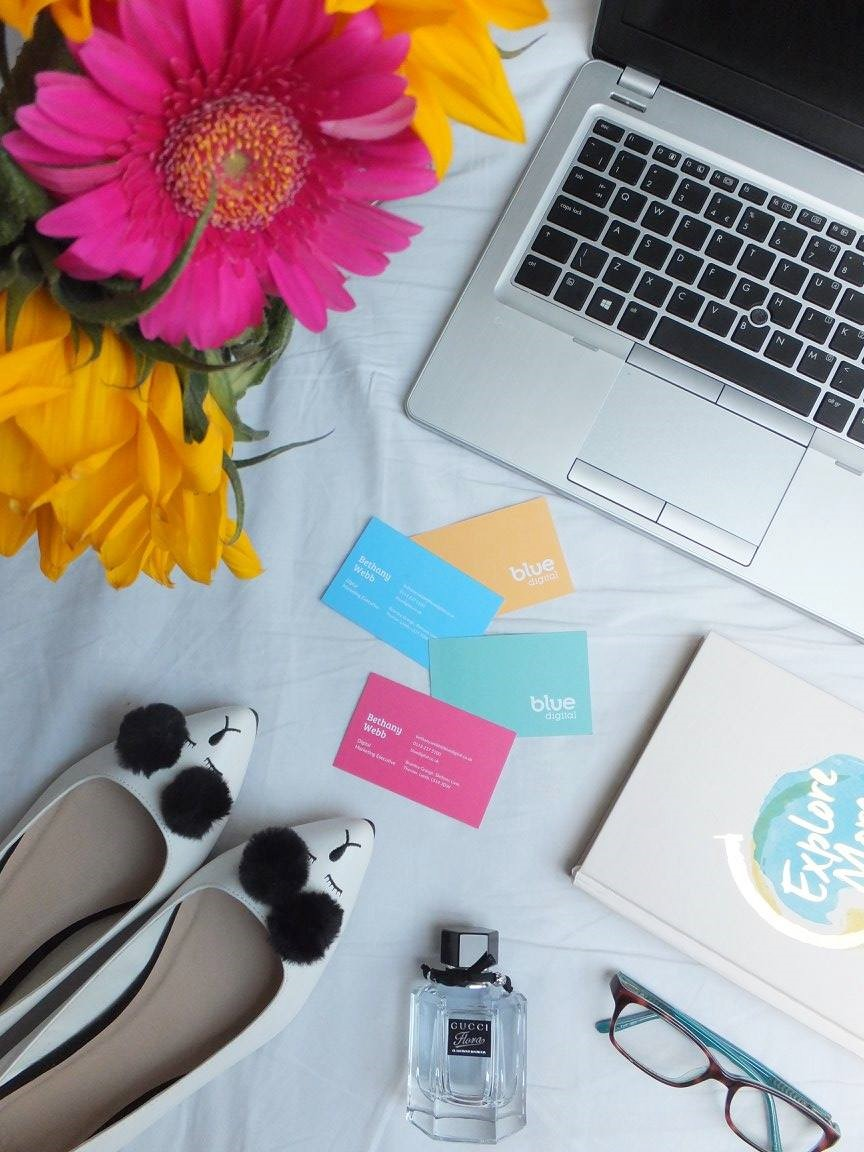 Flowers-Laptop-Business-Cards-Shoes-Perfume-Notebook-Glasses