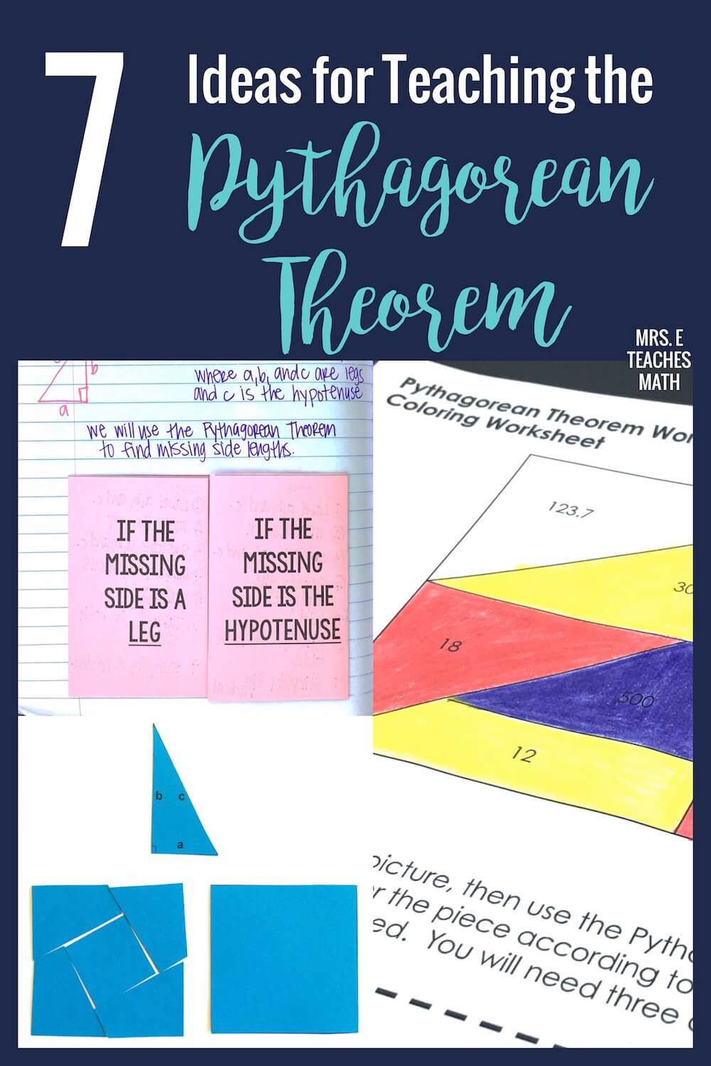 Punnett Square Practice Worksheet Middle School Teaching Proofs With Proof Cutout Activities  Mrs E Teaches Math Crime Scene Worksheets Excel with Numbers Matching Worksheet Excel  Ideas For Teaching The Pythagorean Theorem Worksheet On Number Patterns