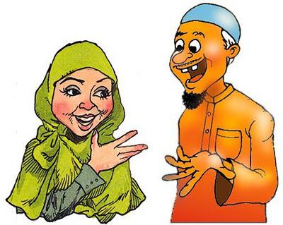 Gambar Kartun Nenek Muslimah