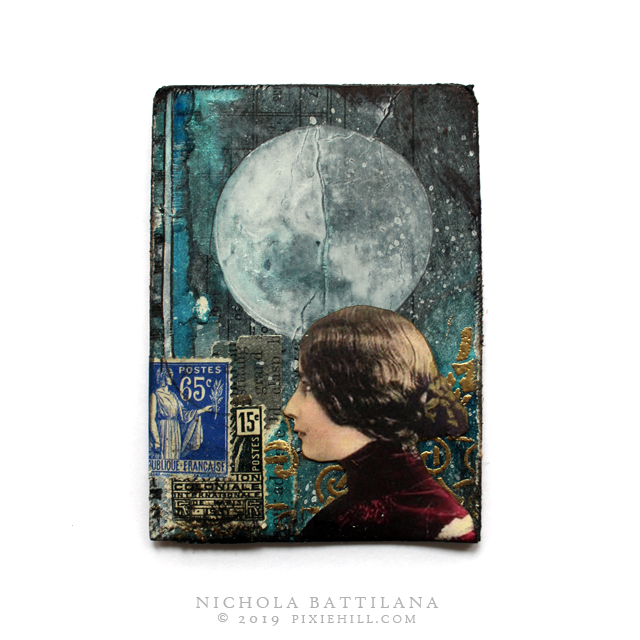 Midnight in the Night Garden Mixed Media ATCs - Nichola Battilana