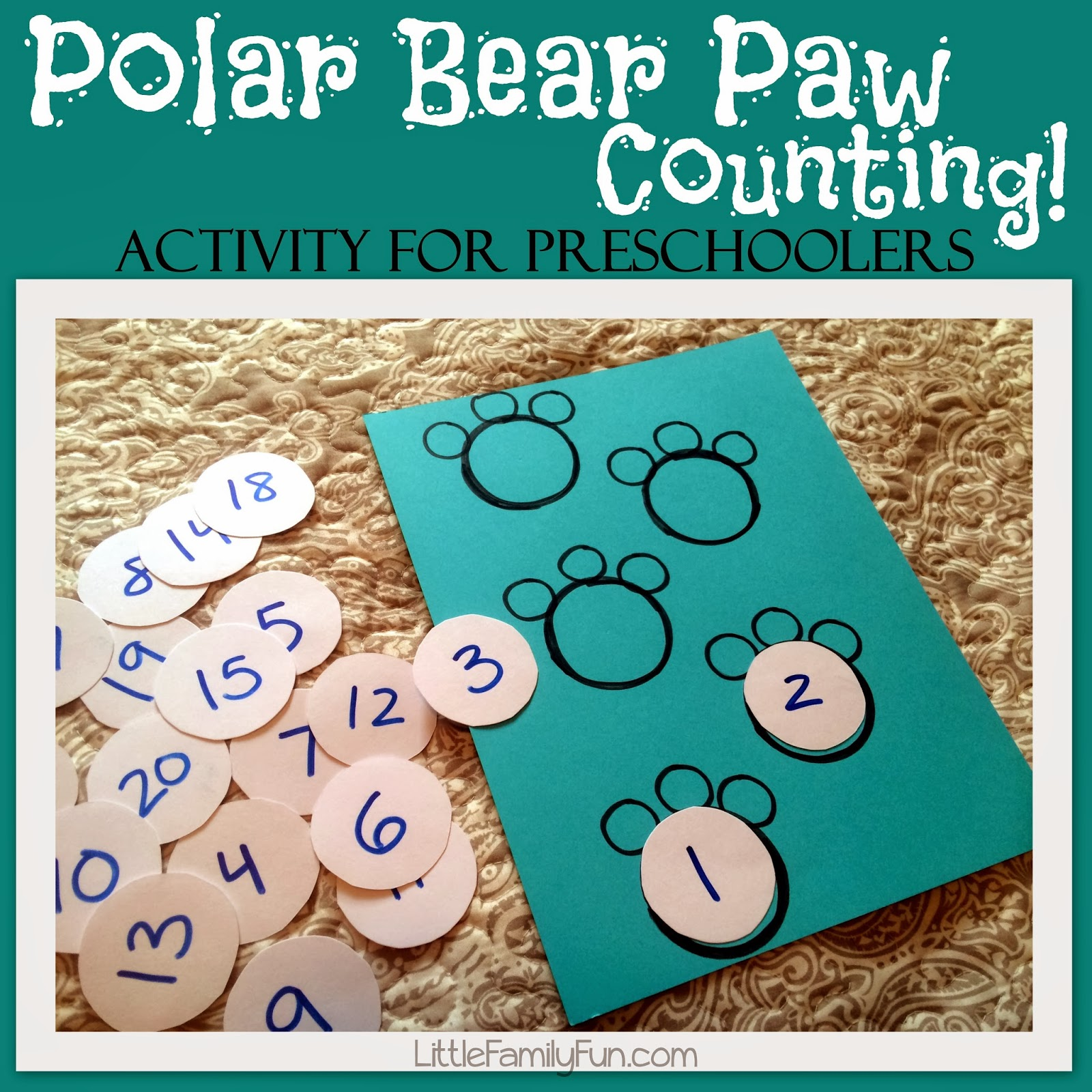 Little Family Fun Polar Bear Paw Counting
