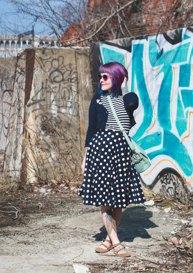 Cleveland Fashion Blog, purple hair, kaylah doolan