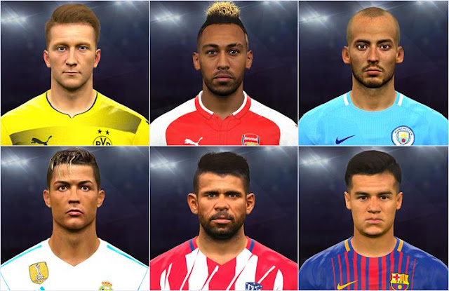 Facepack Update (30 Faces) PES 2017