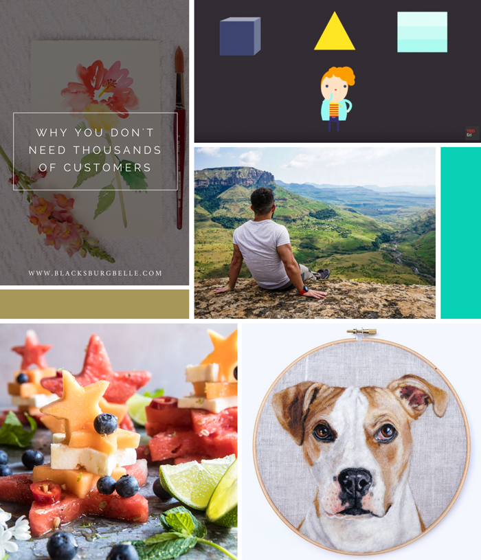 August favorites, links, creativity, TED Ed, travel, Passion Passport, art, Dani Ives, recipe, fruit salad, blacksburg belle, why you don't need thousands of customers