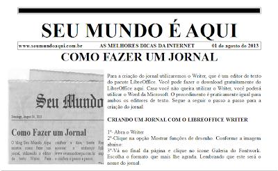 Modelo de Jornal com 2 colunas