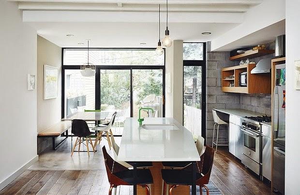 cocina y office estilo moderno industrial