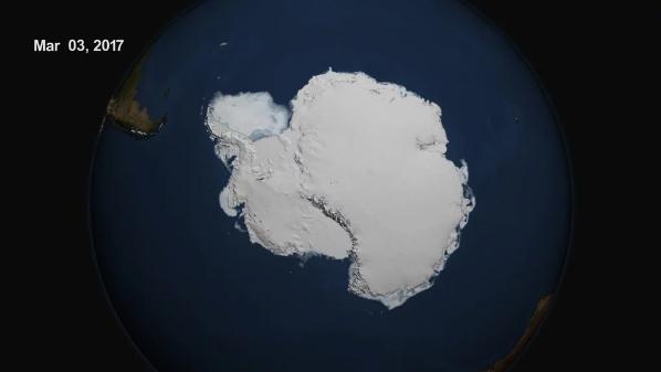 Monitoreos del hielo en ambos casquetes muestra una baja inmensa