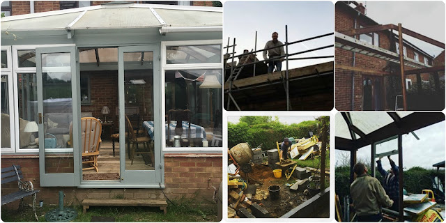 building a conservatory garden room using 2nd hand materials