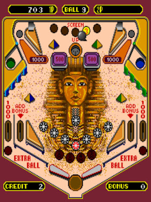 街機:埃及金字塔彈珠台(快速球、Speed Ball)+作弊碼金手指!