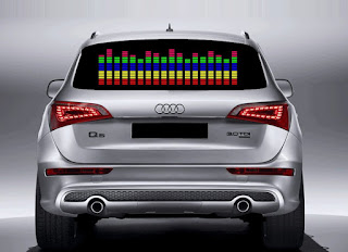 Music Beat Activated Car LED Equalizer Window Sticker Strip
