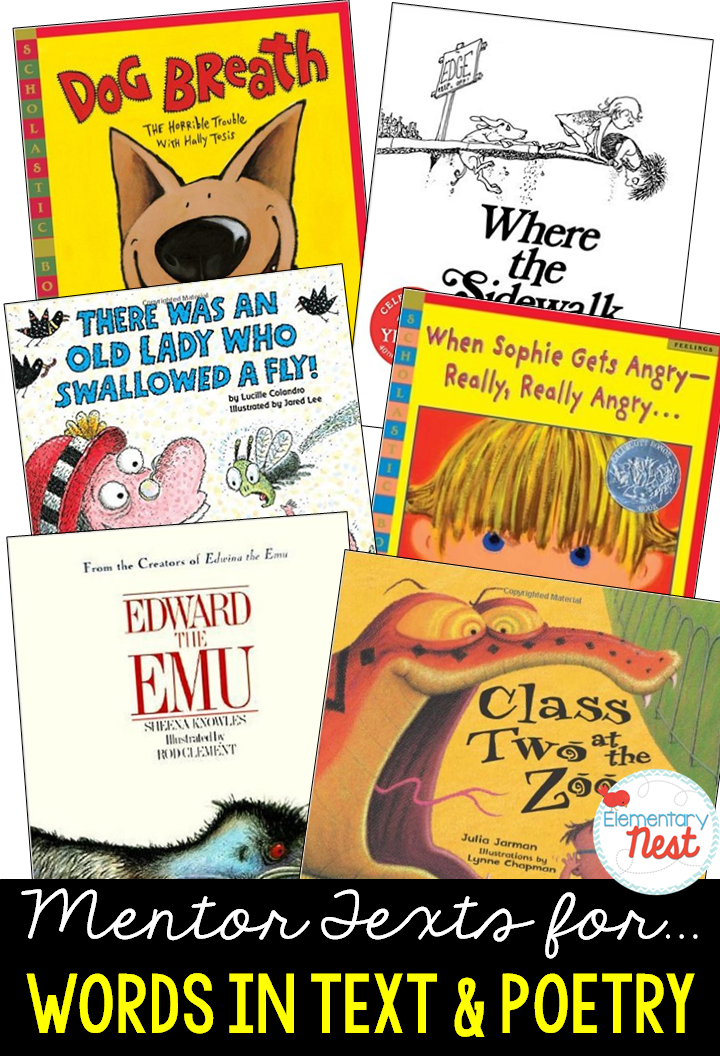 Primary Mentor Texts for Common Core Literature Standards | Second ...