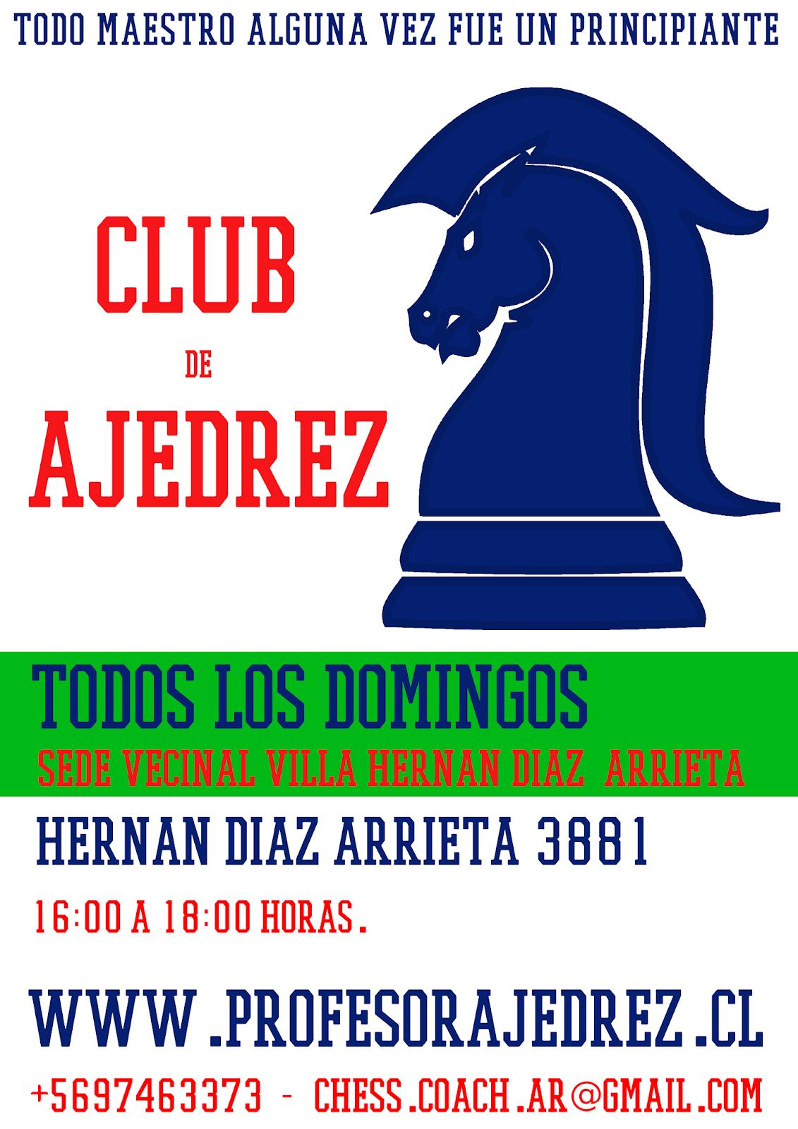 Club de Ajedrez en Villa Hernán Díaz Arrieta